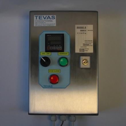 Vyhodnocovací jednotka TDS-01 v nerezovém provedení.